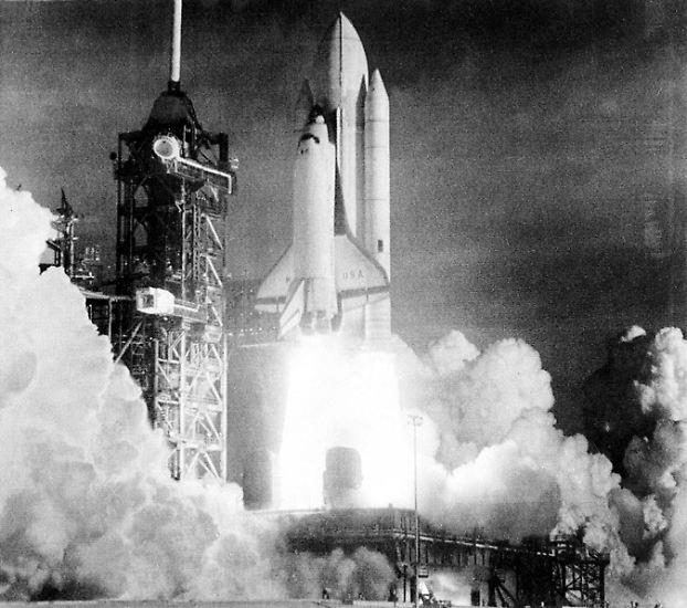 """Mit ihr fing alles an: Am 12. April 1981 startete die """"Columbia"""" als erstes wiederverwendbares US-Raumfahrzeug ..."""
