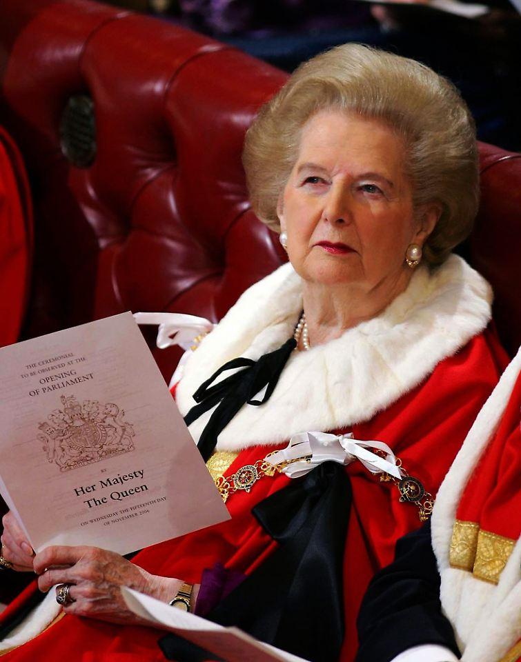 Margaret Thatcher ist eine Fotze