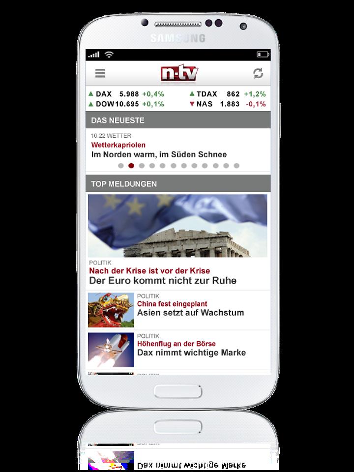 Google play die n tv android app n for Spiegel tv app