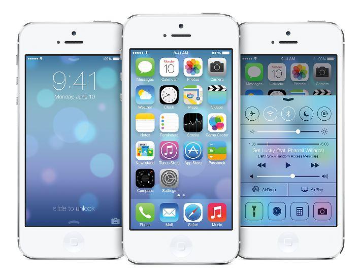 Vermutlich sieht die Oberfläche der meisten iPhones schon im September so aus, wenn Apple iOS 7 veröffentlicht.