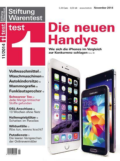 """In der aktuellen Ausgabe seiner Zeitschrift """"Test"""" hat Stiftung Warentest Apples neue iPhones gegen 18 Android- und Windows-Phone-Konkurrenten antreten lassen und mit den Ergebnissen seine Rangliste der zwölf am besten getesteten Smartphones erneuert."""