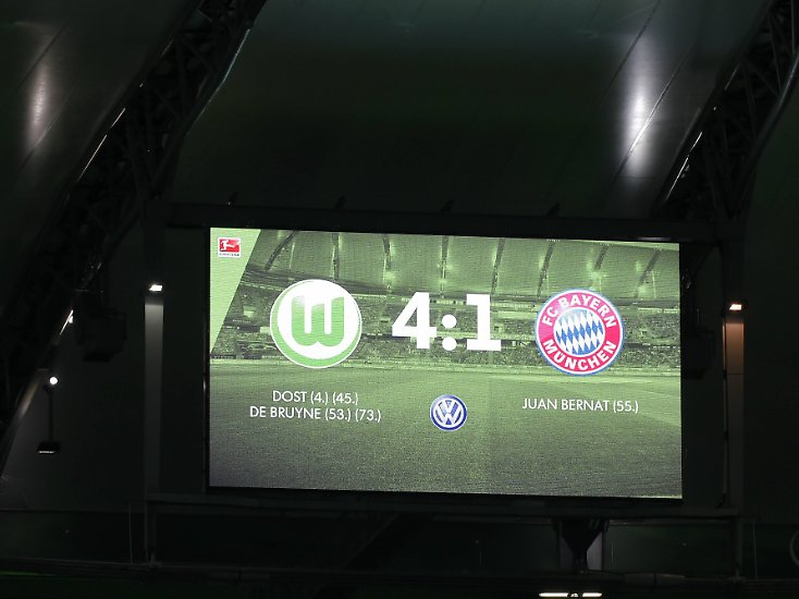 VfL Wolfsburg - FC Bayern 4:1 (2:0)