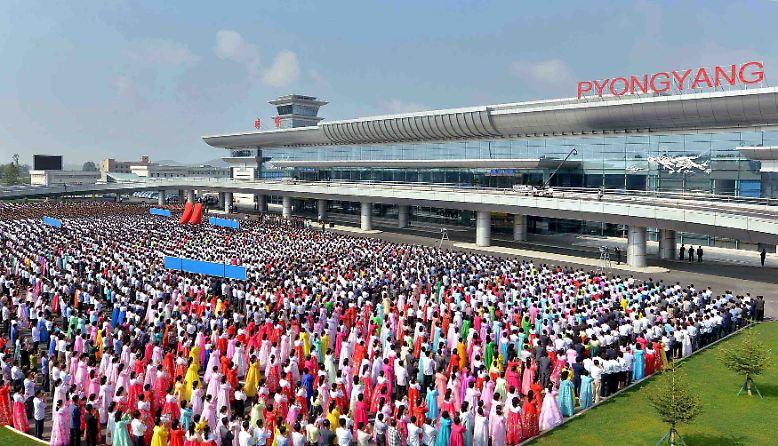 Es ist so weit: Nordkoreas Hauptstadt Pjöngjang eröffnet einen neuen internationalen Flughafen-Terminal.