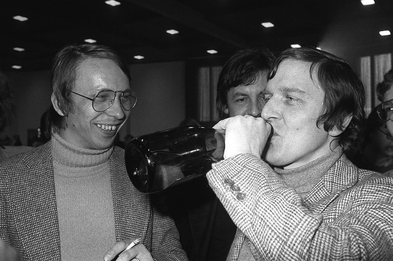 schrder nach seiner wahl zum juso chef 1978 - Gerhard Schrder Lebenslauf