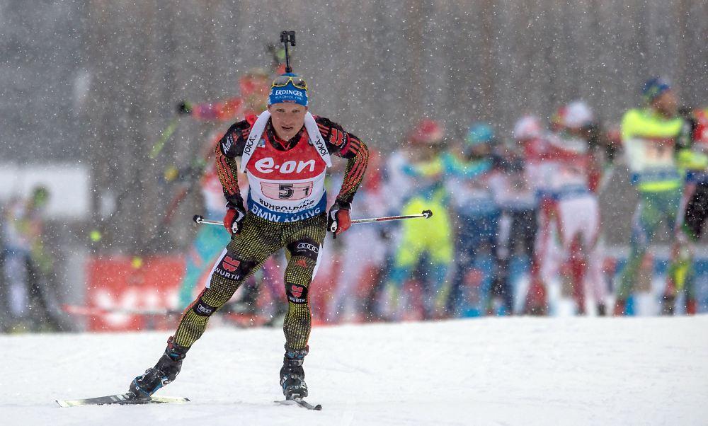 Massenstart Biathlon Männer
