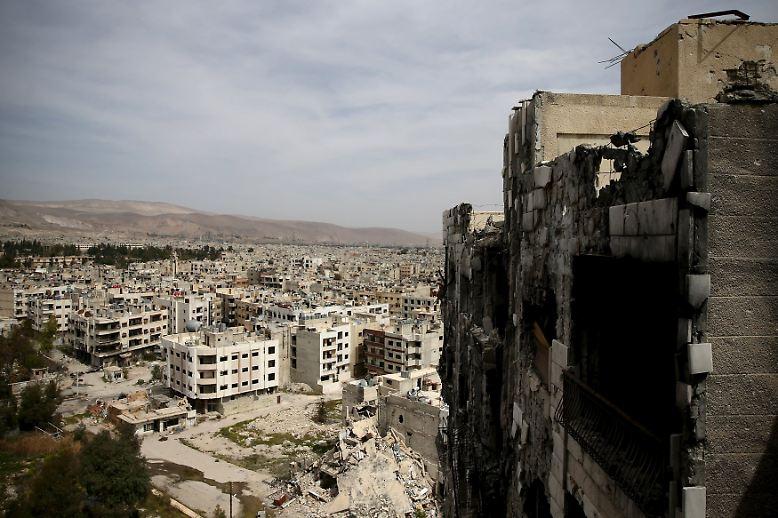 Die syrische Hauptstadt Damaskus im März 2016 nach mehr als fünf Jahren Bürgerkrieg.