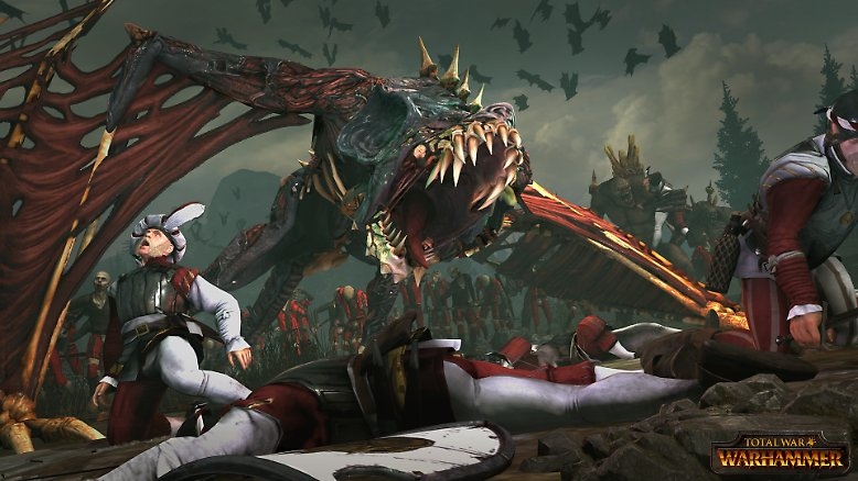 """Schnell weg, ein """"Terrorgheist""""! Dieses Vieh stammt aus dem Warhammer-Universum und nun fliegt es auch über den Bildschirm - als einer der Videospiel-Blockbuster, die in dieser Bilderserie vorgestellt werden."""