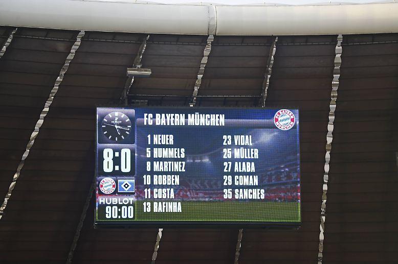 FC Bayern - Hamburger SV 8:0 (3:0)