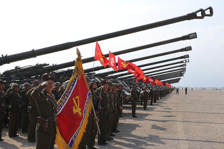 Anlässlich des 85. Gründungstages der Armee Nordkoreas ist eine Artillerie-Übung angesetzt.