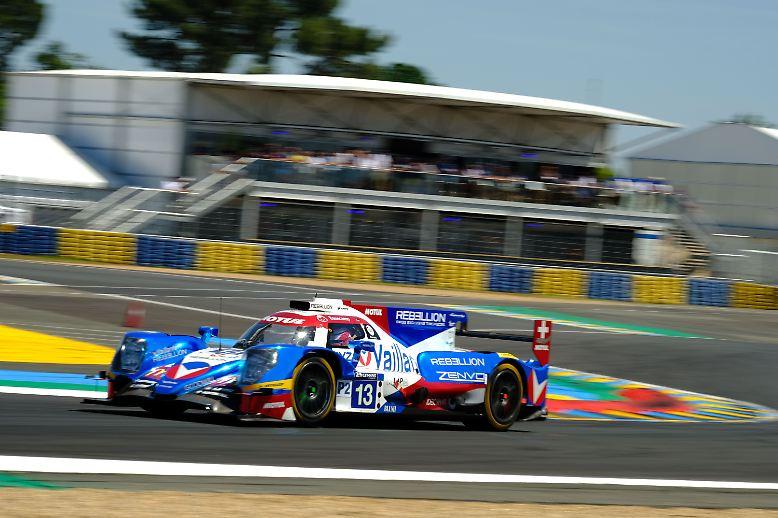 Platz drei belegt ebenfalls ein LMP2-Fahrzeug #13 mit Nelson Piquet Jr., David Heinemeier Hansson und Mathias Beche.