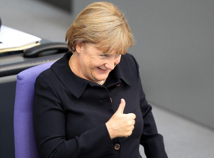 Deutschland ist aber so was von top! Wer wüsste das nicht besser als unsere Kanzlerin?! Schließlich ...