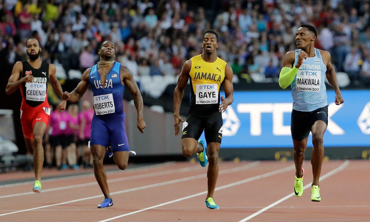 Makwala darf über 200 m als Nachzügler ran