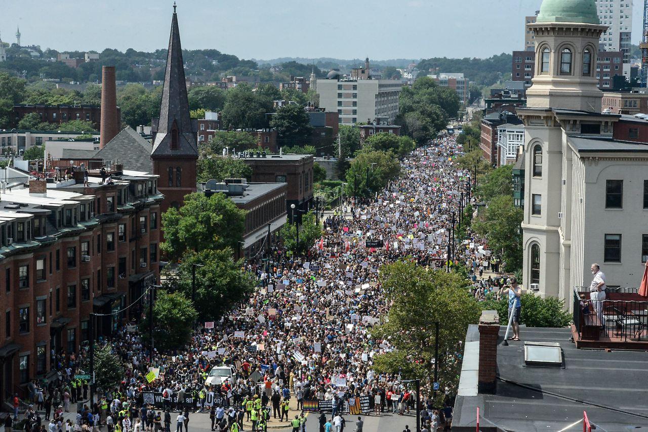 Tausende setzen in Boston ein Zeichen
