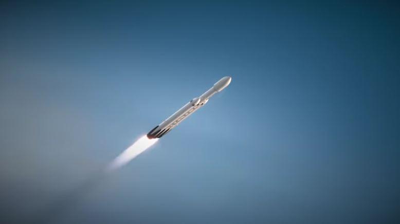 """Fast 17 Tonnen soll sie auf die interplanetare Piste bringen können. Das langfristige Ziel der """"Falcon Heavy"""": die bemannte Raumfahrt zum Mars. (asc)"""