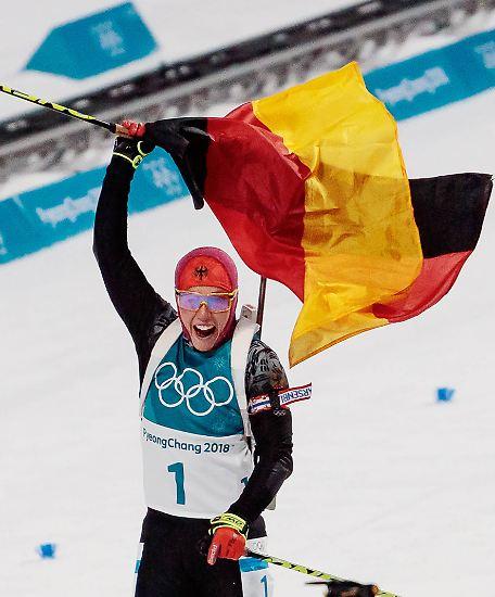 Es ist die erste Medaille für Deutschland bei den Olympischen Winterspielen in Pyeongchang und es ist Gold.