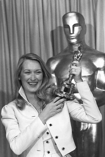Ihren ersten Oscar hätte Meryl Streep beinahe verloren: Vor lauter Aufregung vergaß sie das gute Stück nach der Preisverleihung auf der Toilette.