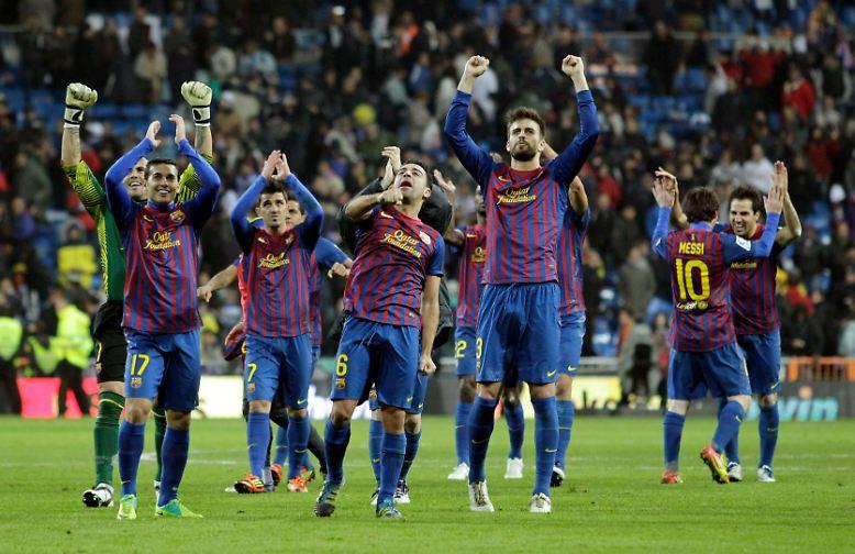 """Champions-League-Sieger FC Barcelona hat mit einem Sieg im """"El Clásico"""" ..."""