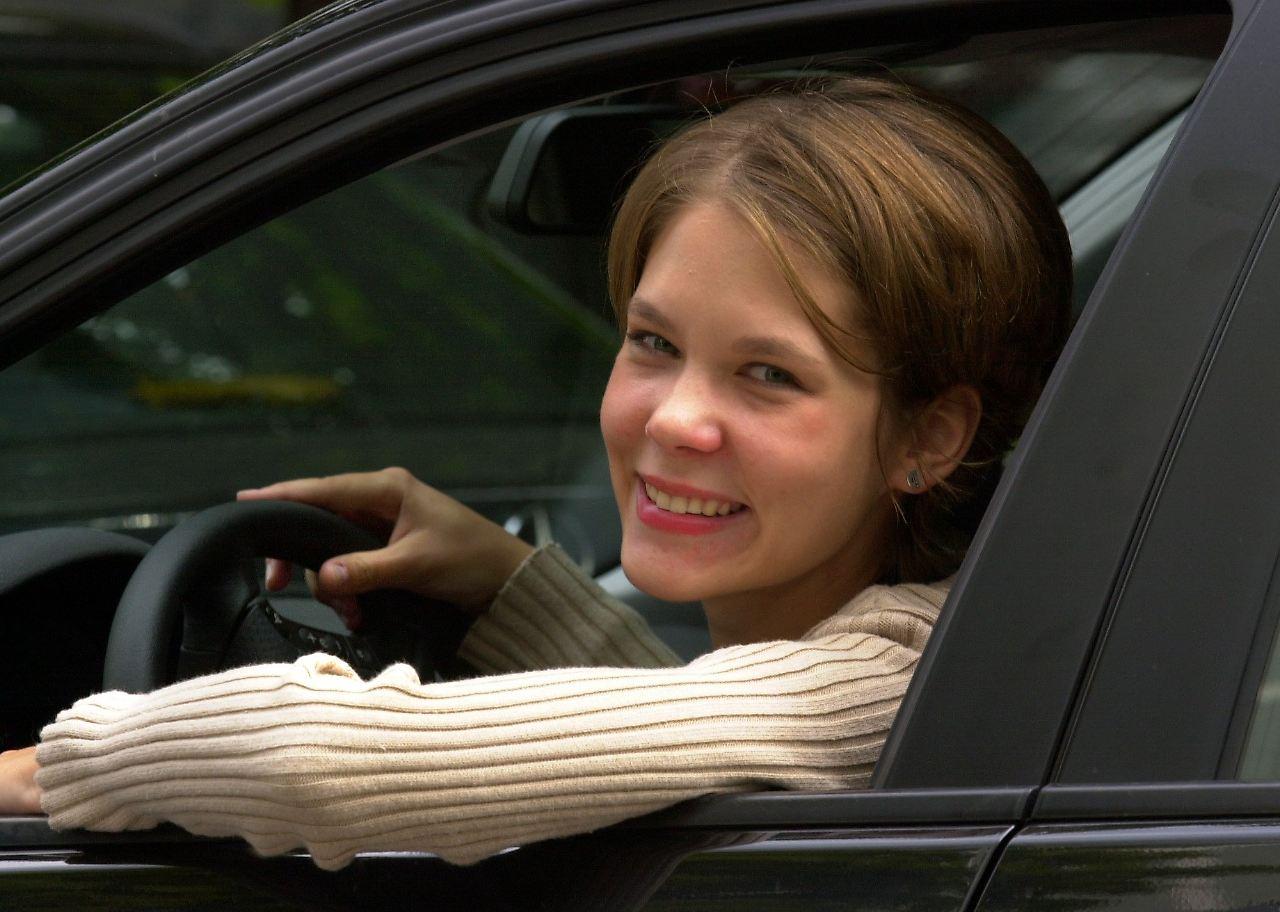 Flirten in de auto