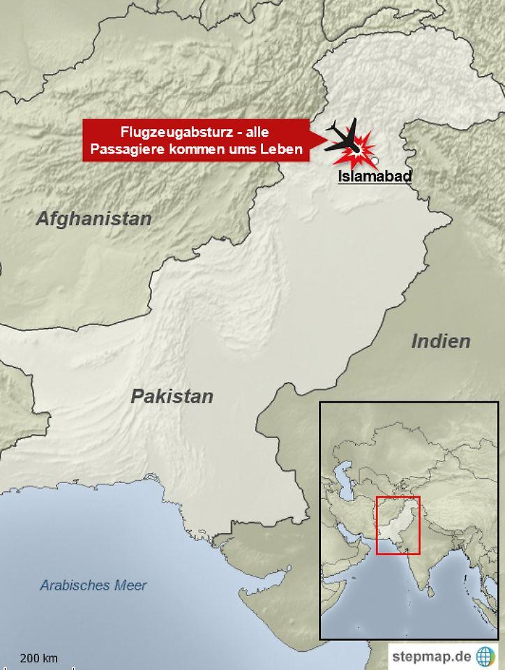 Absturz Pakistan