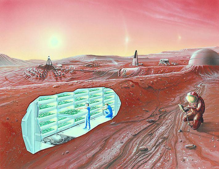 """Stephen Hawking redet von menschlichen Kolonien auf dem Mars, und auch Apollo-Astronaut Buzz Aldrin setzt sich für den """"Mars to Stay"""" ein. Schon in naher Zukunft, so das Konzept, sollen auf dem Roten Planeten die ersten Siedlungen entstehen. So wird es offenbar Zeit, sich dort einmal umzuschauen."""