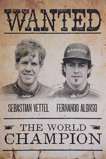 <b>DUELL DES JAHRES:</b> Sebastian Vettel gegen Fernando Alonso.