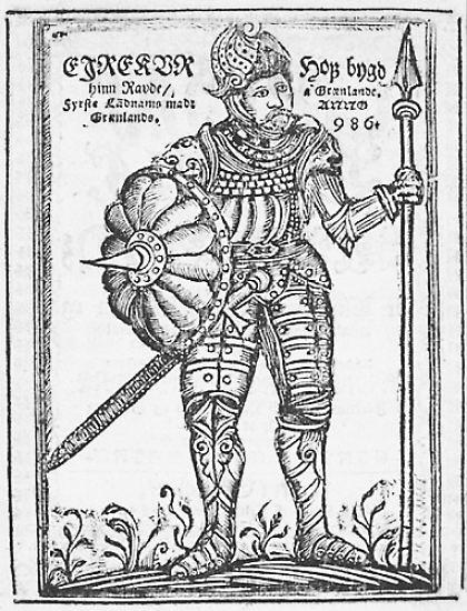 Auch Erik der Rote, in Island zu Hause, hörte davon. Als er 982 verbannt wurde, weil er im Streit zwei Männer erschlagen hatte, griff er die Gelegenheit beim Schopfe und machte sich auf die Suche nach dem unbekannten Land. Er wollte es besiedeln.