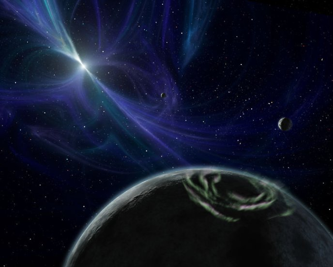 Rund 70 Jahre später bestätigten Astronomen die ersten Planeten außerhalb unseres Sonnensystems. Sie umkreisen den Pulsar 1257+12, den Aleksander Wolszczan 1990 entdeckte.