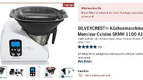 Screenshot: Lidls Silvercrest ist online bereits ausverkauft.
