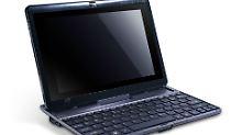 Das Iconia W500 mit Chiclet-Tastatur.