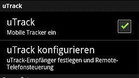 Das Samsung Galaxy S wird per uTrack ferngesteuert.