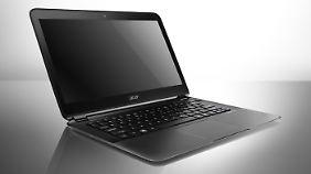 Das Acer Aspire S5 ist eines von vielen Ultrabooks, die in Las Vegas präsentiert werden.